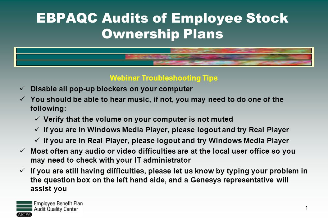 EBPAQC Audits of Employee Stock Ownership Plans