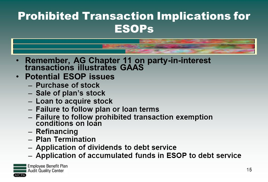 Prohibited Transaction Implications for ESOPs
