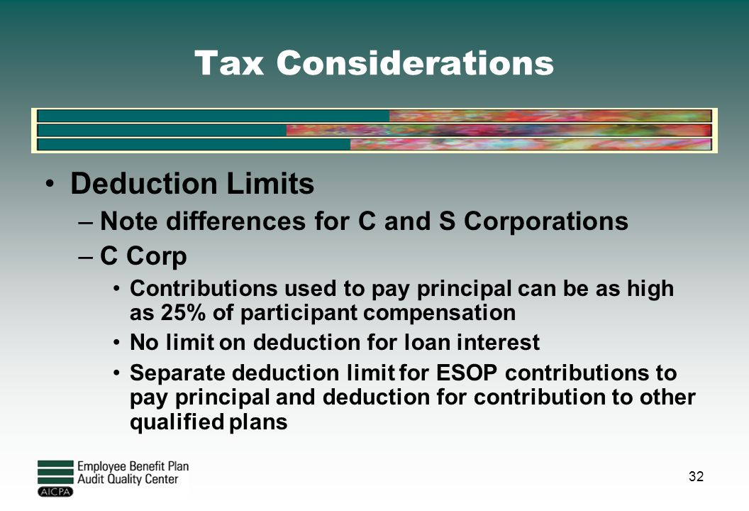 Tax Considerations Deduction Limits