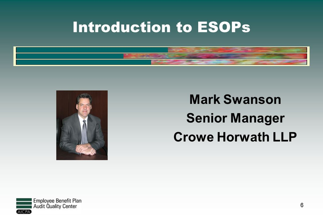 Mark Swanson Senior Manager Crowe Horwath LLP