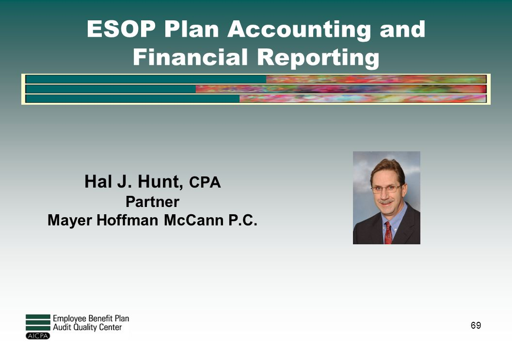 ESOP Plan Accounting and Financial Reporting