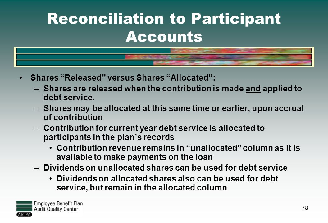 Reconciliation to Participant Accounts