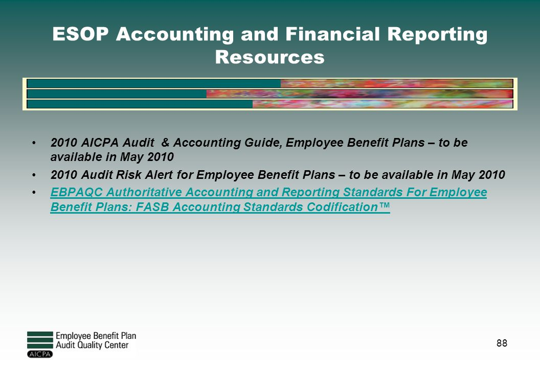 ESOP Accounting and Financial Reporting Resources