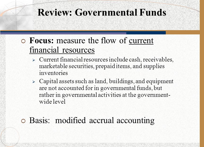 Review: Governmental Funds