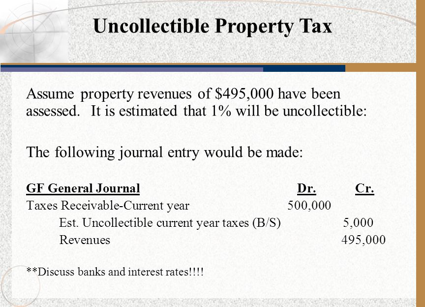 Uncollectible Property Tax
