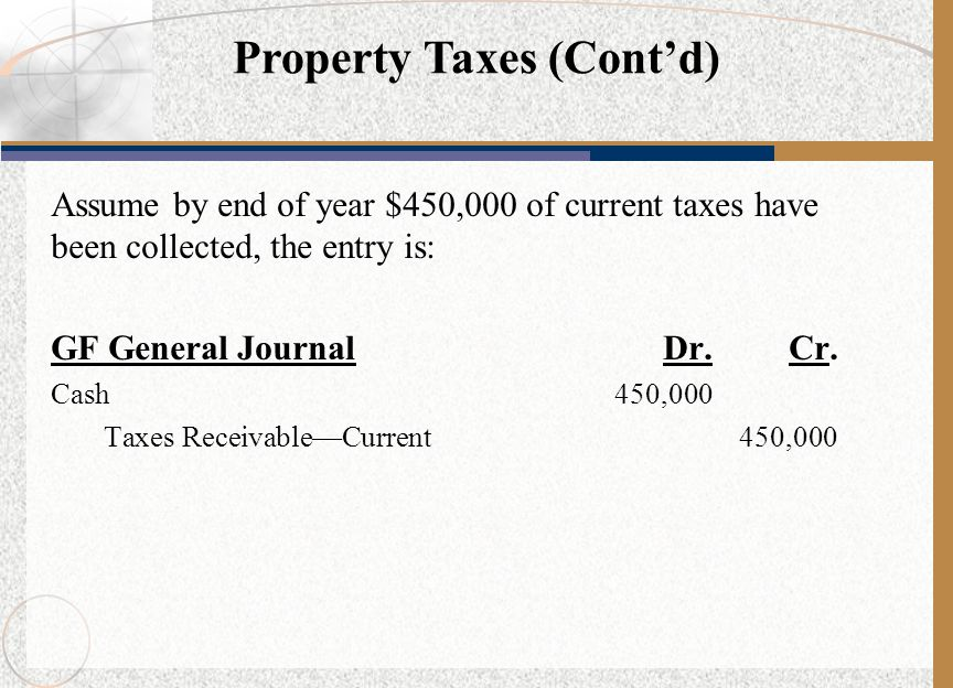 Property Taxes (Cont'd)