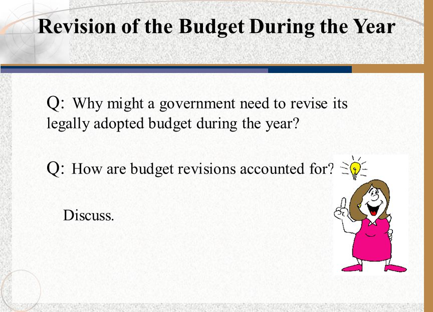 Revision of the Budget During the Year