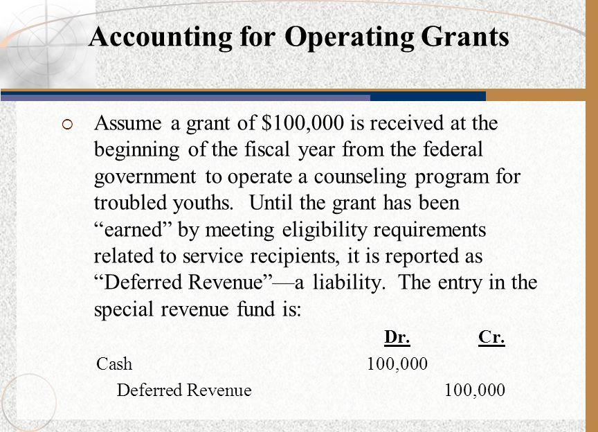 Accounting for Operating Grants