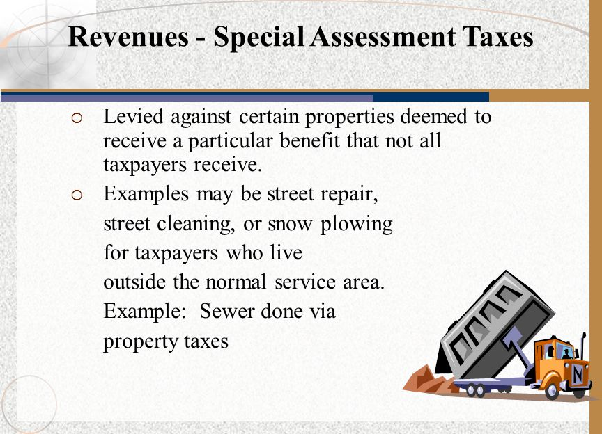 Revenues - Special Assessment Taxes
