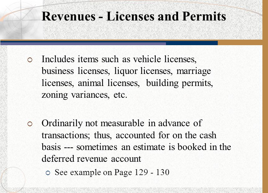 Revenues - Licenses and Permits