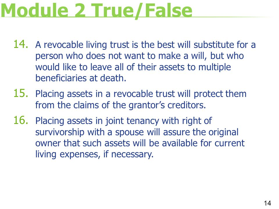 Module 2 True/False