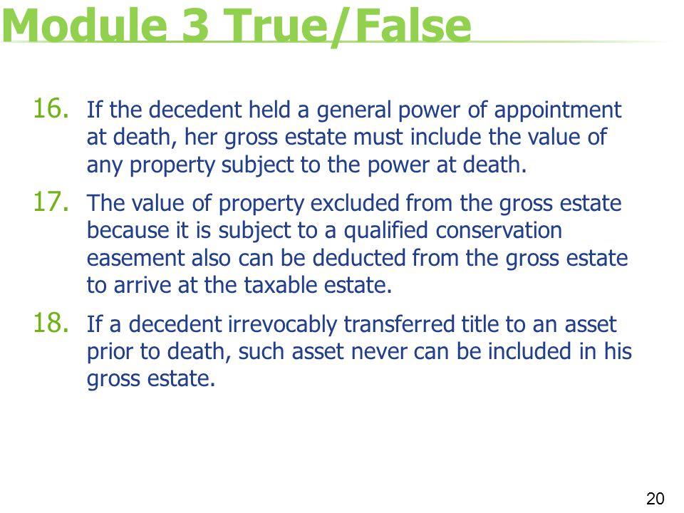 Module 3 True/False