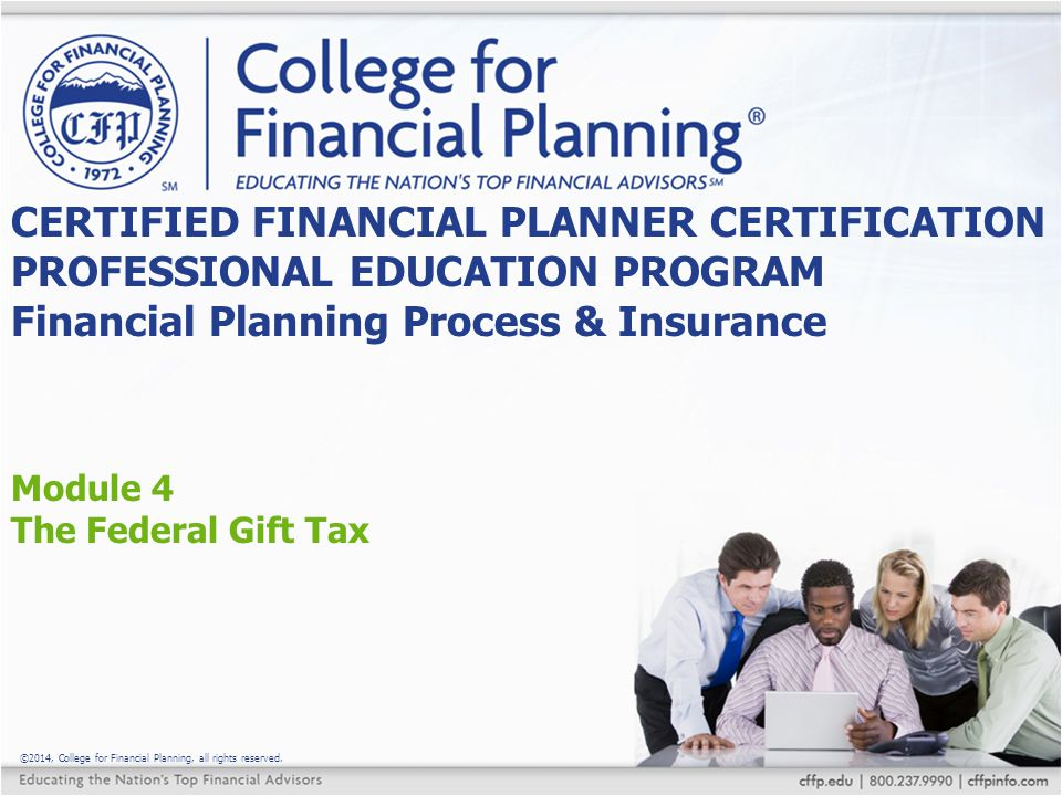 Module 4 The Federal Gift Tax