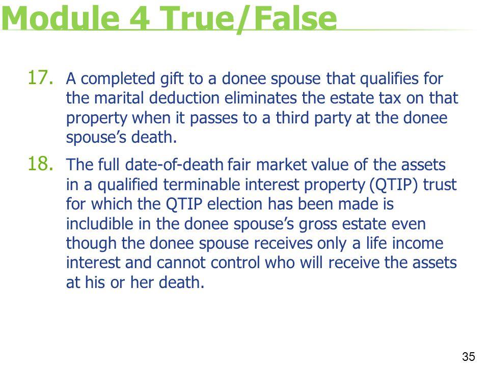 Module 4 True/False