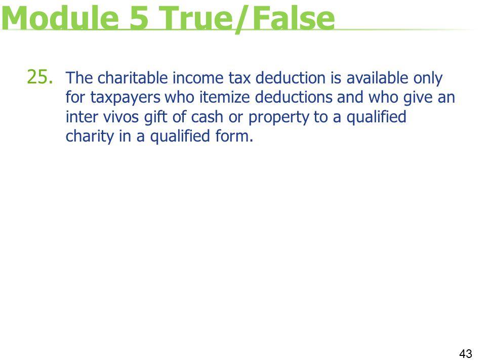 Module 5 True/False