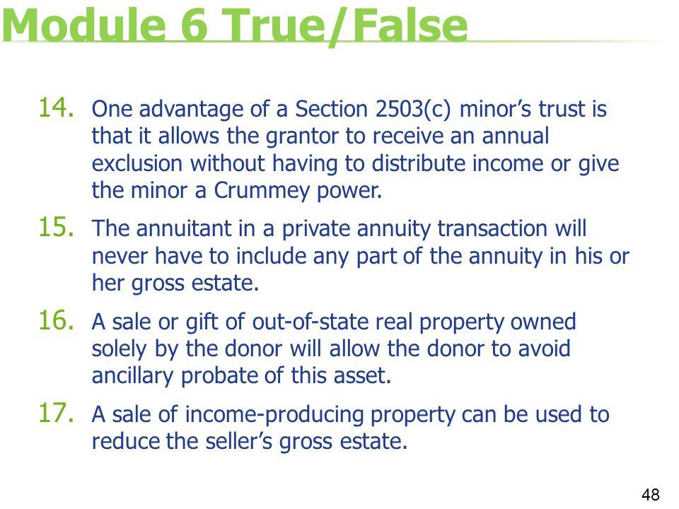 Module 6 True/False