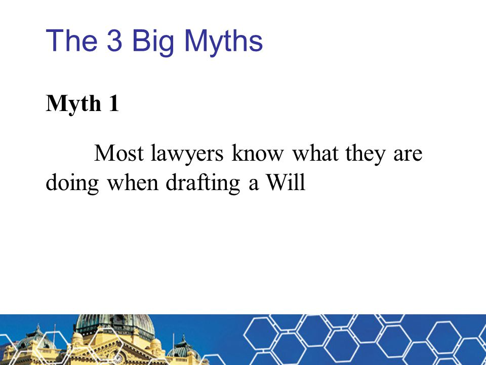 Michael Fitzpatrick The 3 Big Myths. Myth 1.