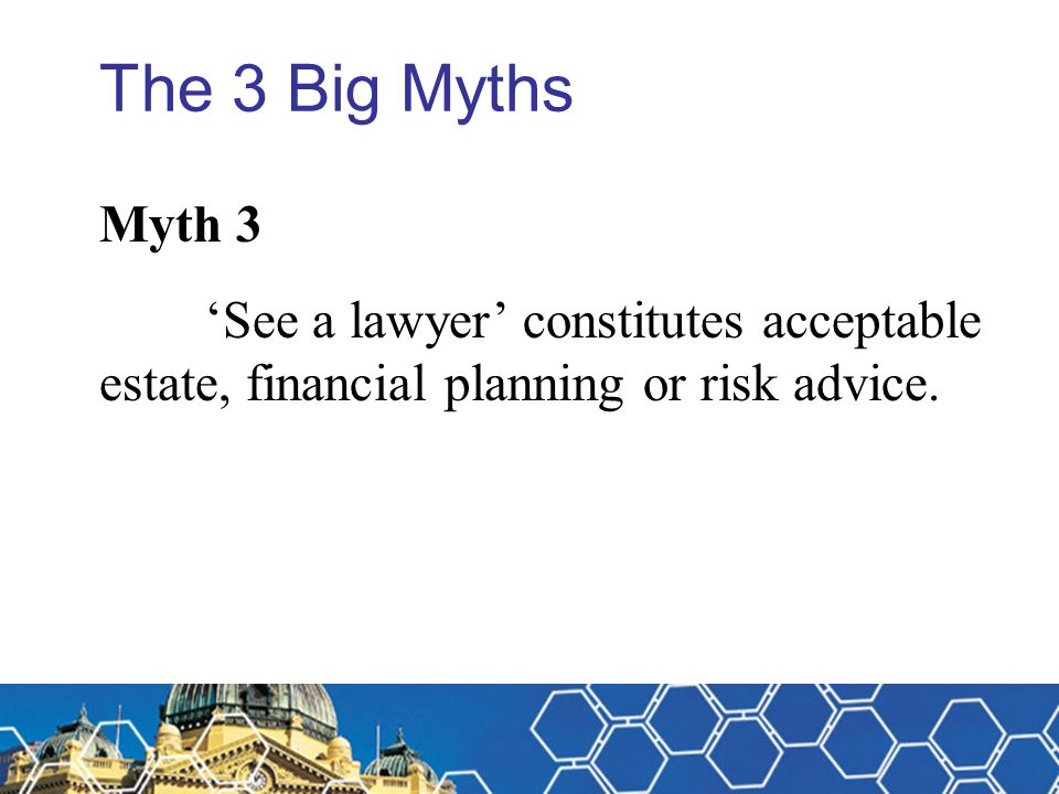Michael Fitzpatrick The 3 Big Myths. Myth 3.