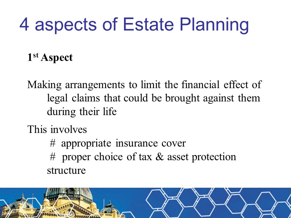 4 aspects of Estate Planning