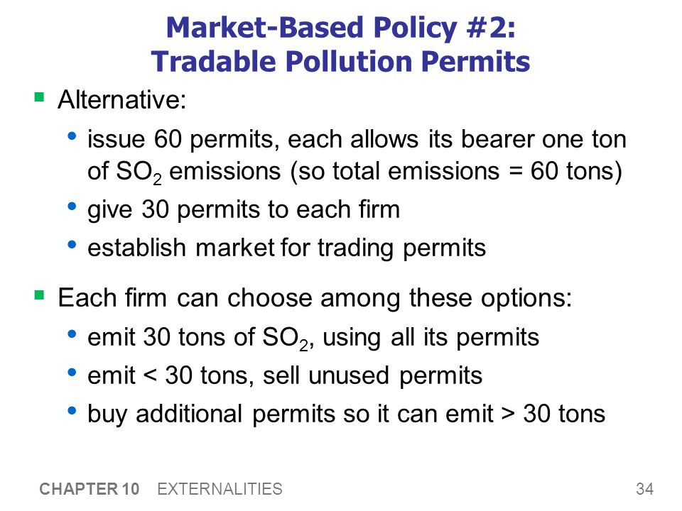 Market-Based Policy #2: Tradable Pollution Permits