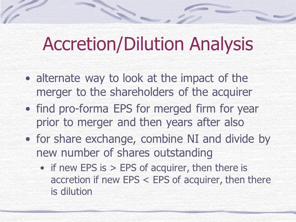 Accretion/Dilution Analysis