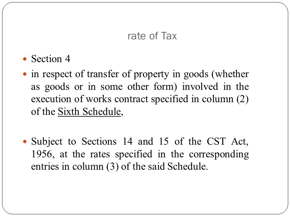 rate of Tax Section 4.