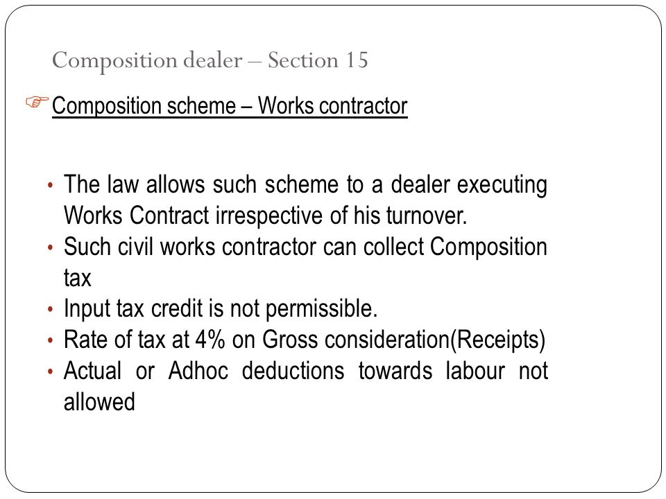 Composition dealer – Section 15