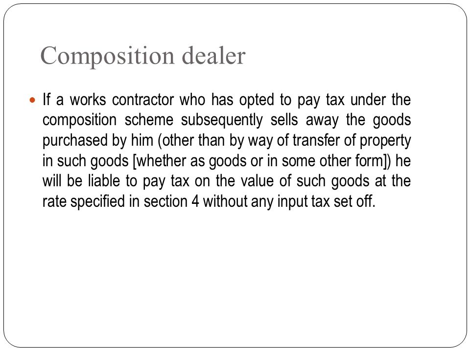 Composition dealer