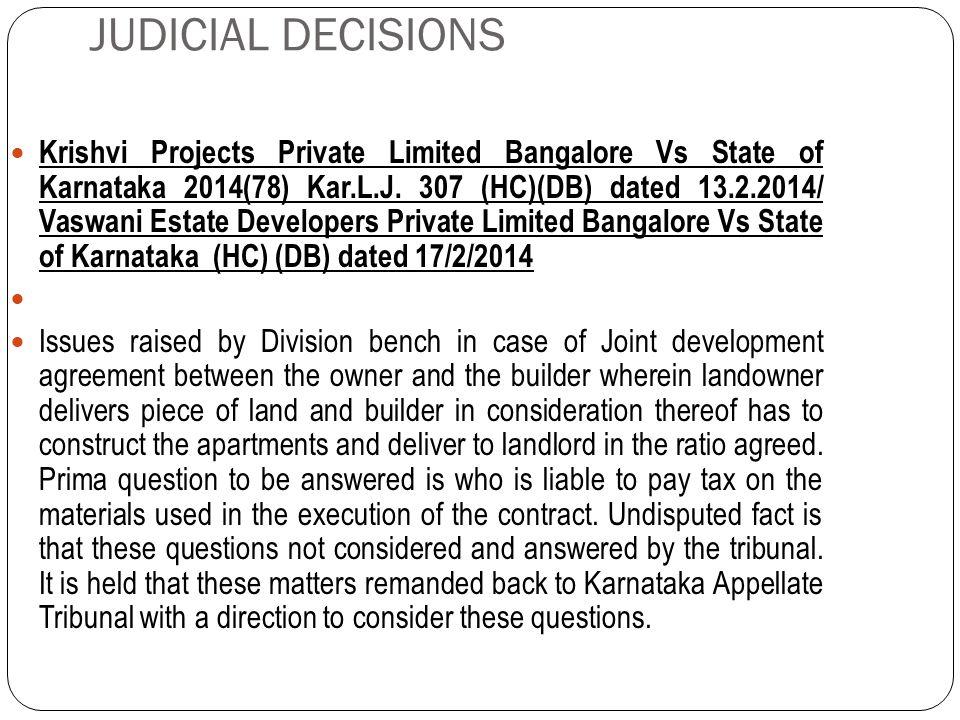 JUDICIAL DECISIONS