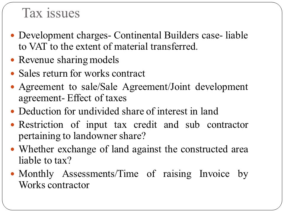 Development agreement contract in an excellent article in the daily karnataka vat implications on real estate sector ppt download platinumwayz