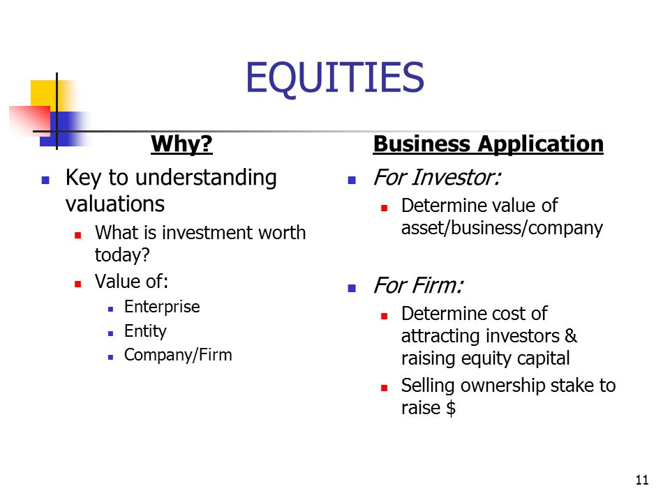 EQUITIES Why Business Application Key to understanding valuations