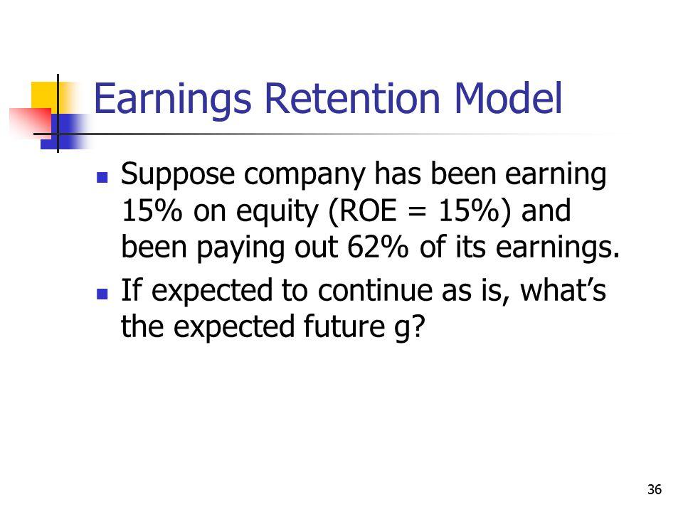 Earnings Retention Model