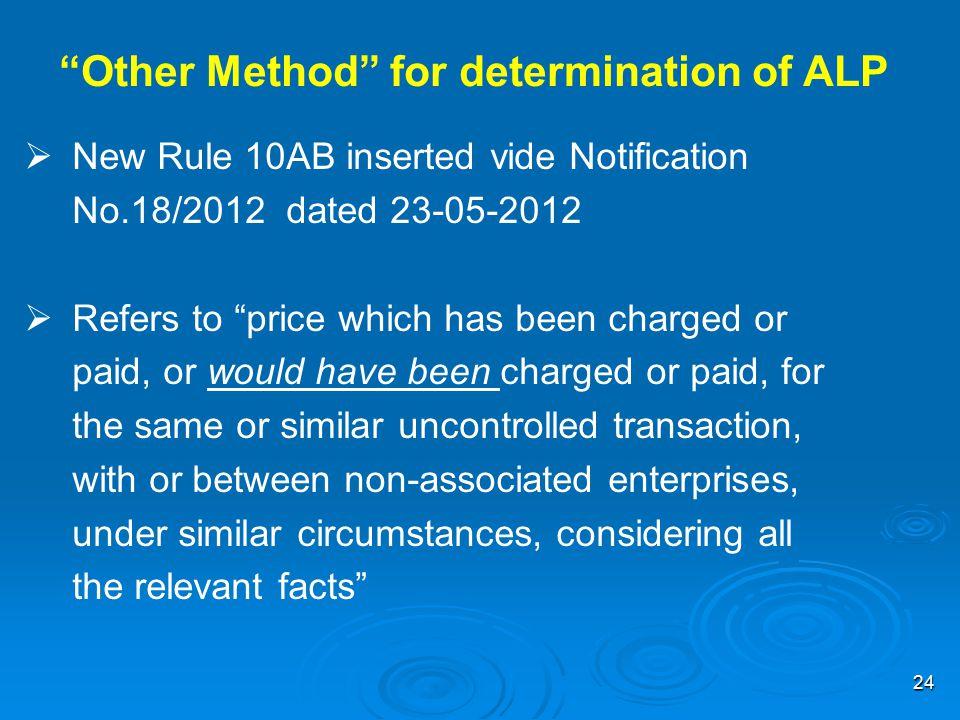 Other Method for determination of ALP