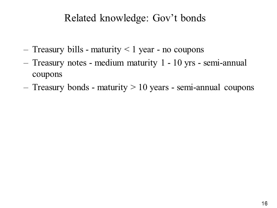 Related knowledge: Gov't bonds
