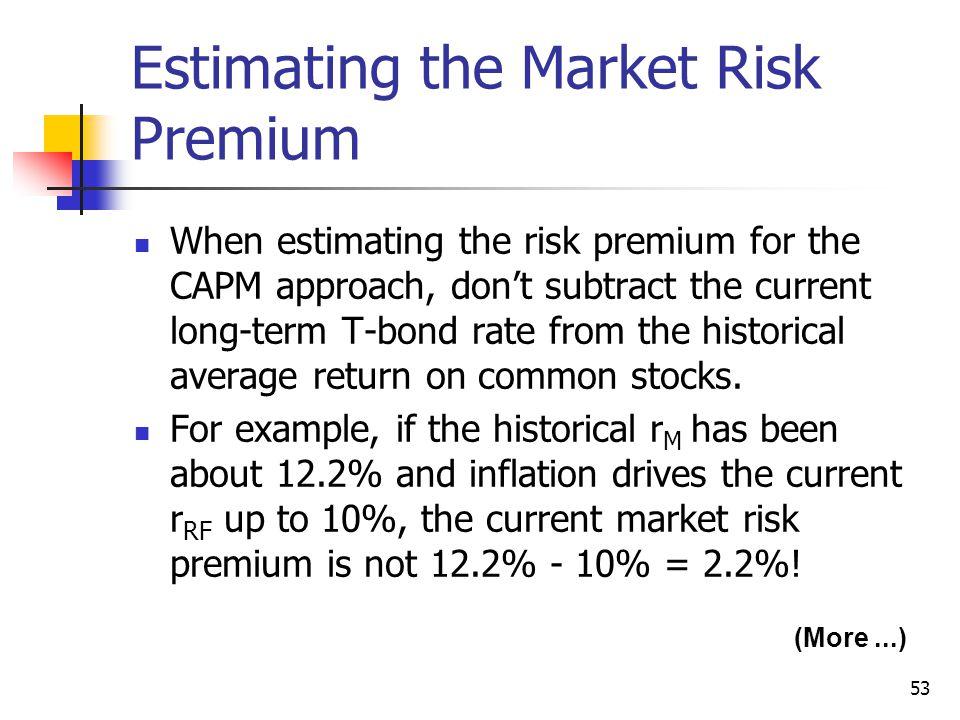 Estimating the Market Risk Premium