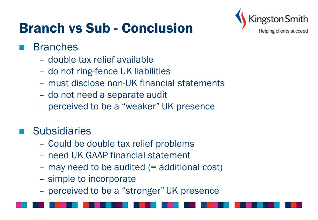 Branch vs Sub - Conclusion