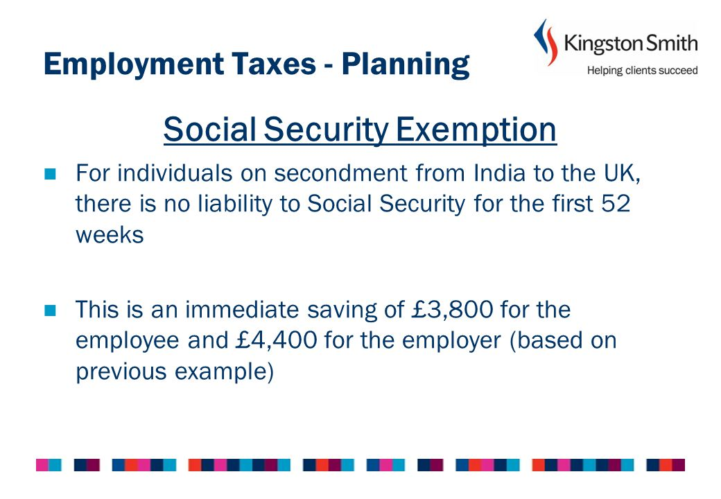 Employment Taxes - Planning