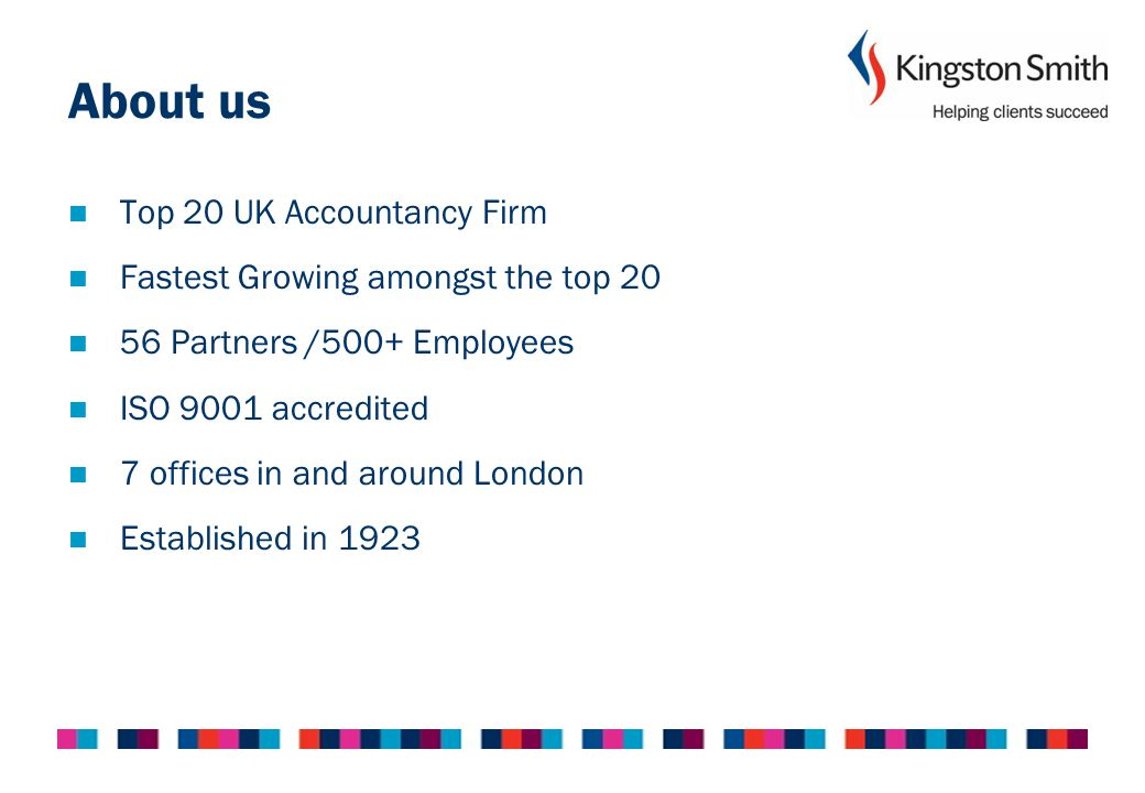 About us Top 20 UK Accountancy Firm Fastest Growing amongst the top 20