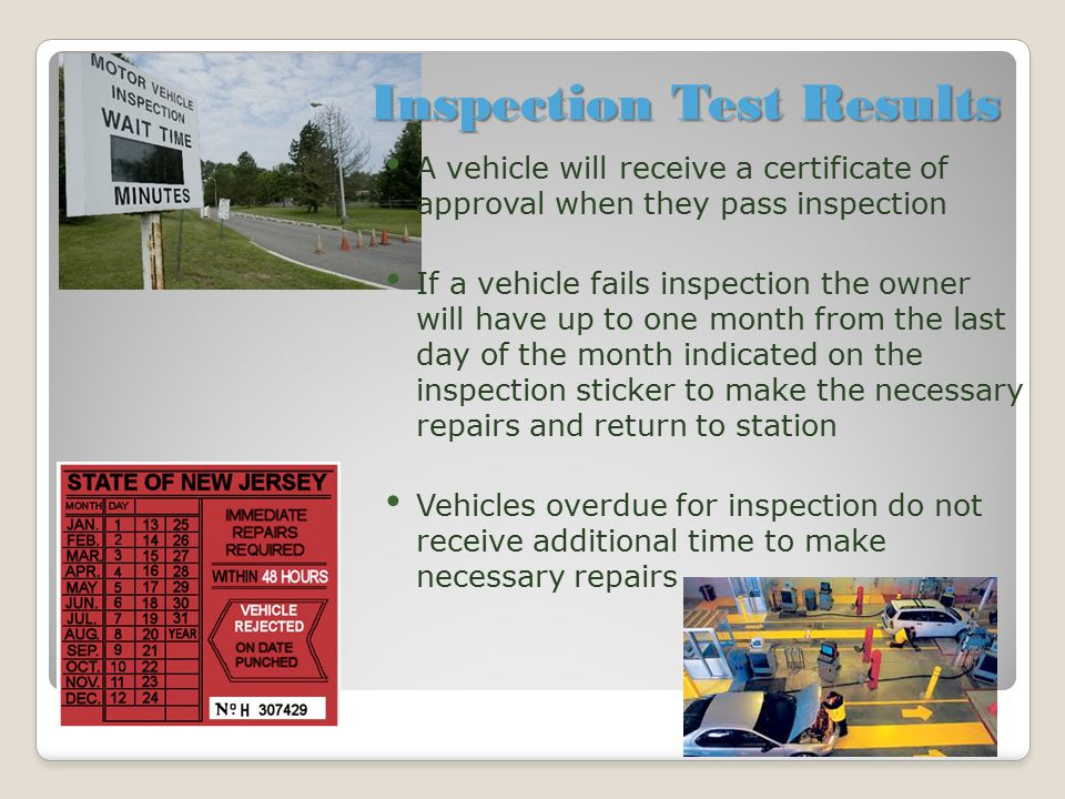 Inspection Test Results
