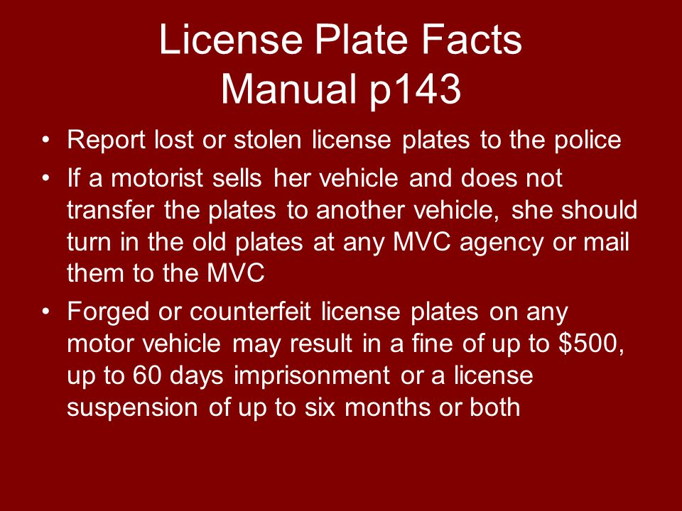 License Plate Facts Manual p143