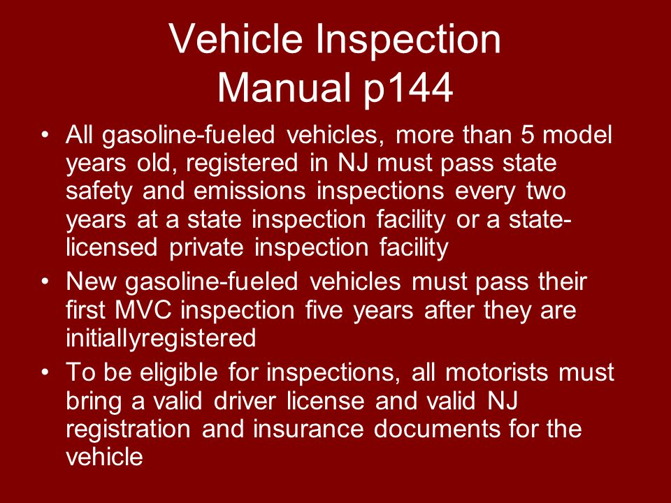 Vehicle Inspection Manual p144