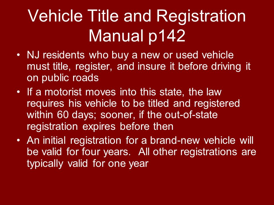 Vehicle Title and Registration Manual p142