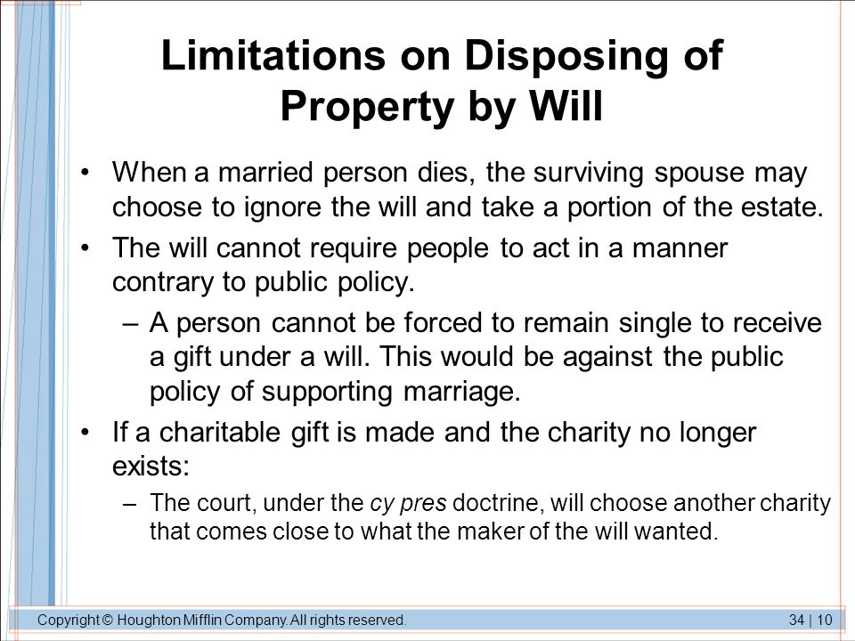 Limitations on Disposing of Property by Will
