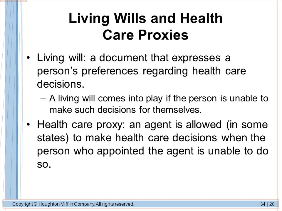 Living Wills and Health Care Proxies