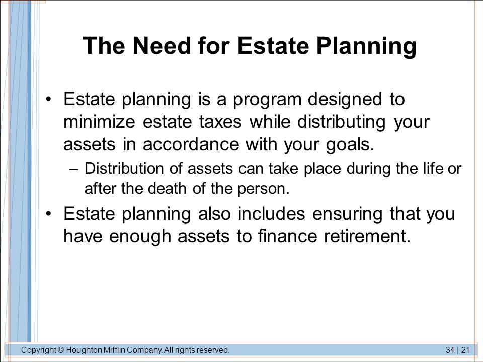 The Need for Estate Planning