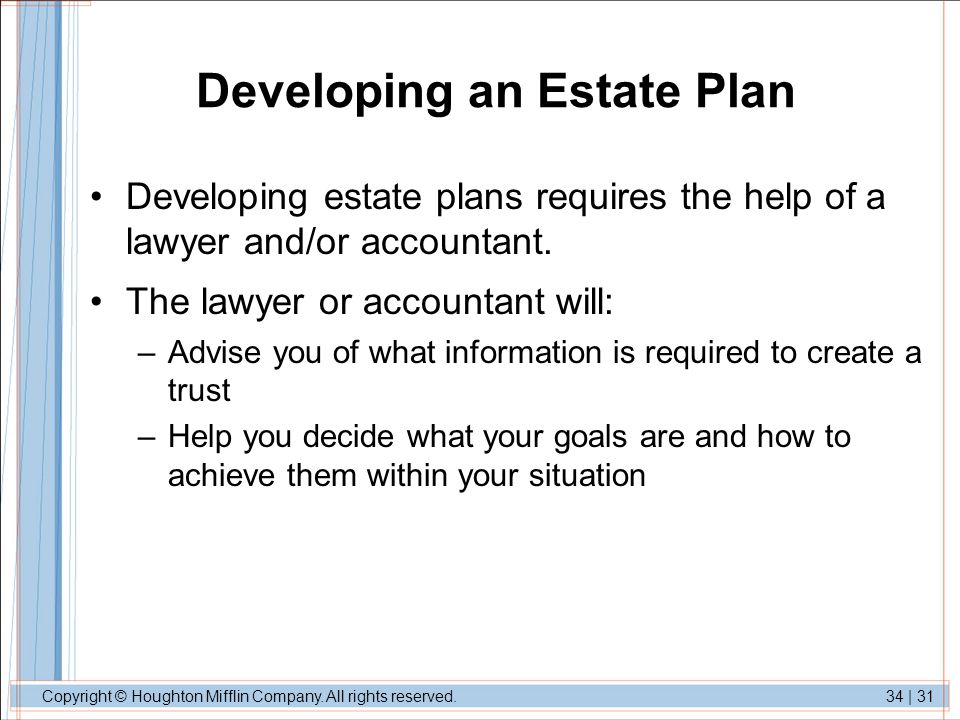 Developing an Estate Plan