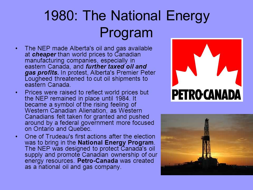 1980: The National Energy Program