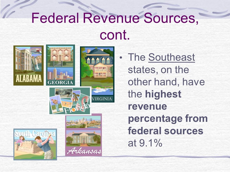 Federal Revenue Sources, cont.