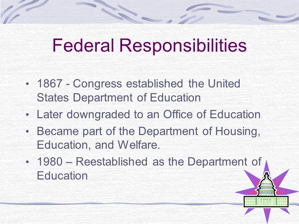 Federal Responsibilities