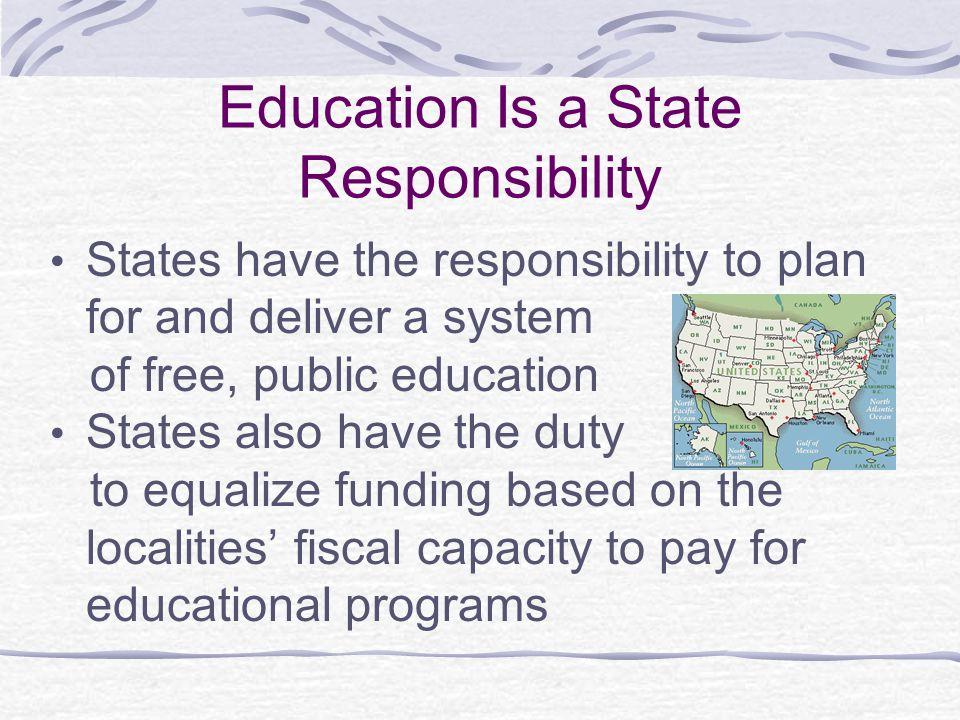 Education Is a State Responsibility